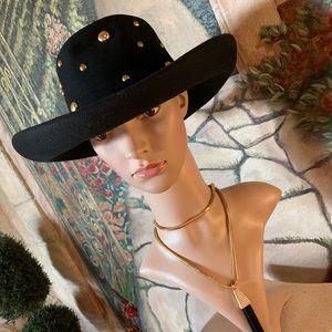Ladies Black Western Wool Hat